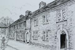 Diamond-panes-of-Ravenstone-almshouses-