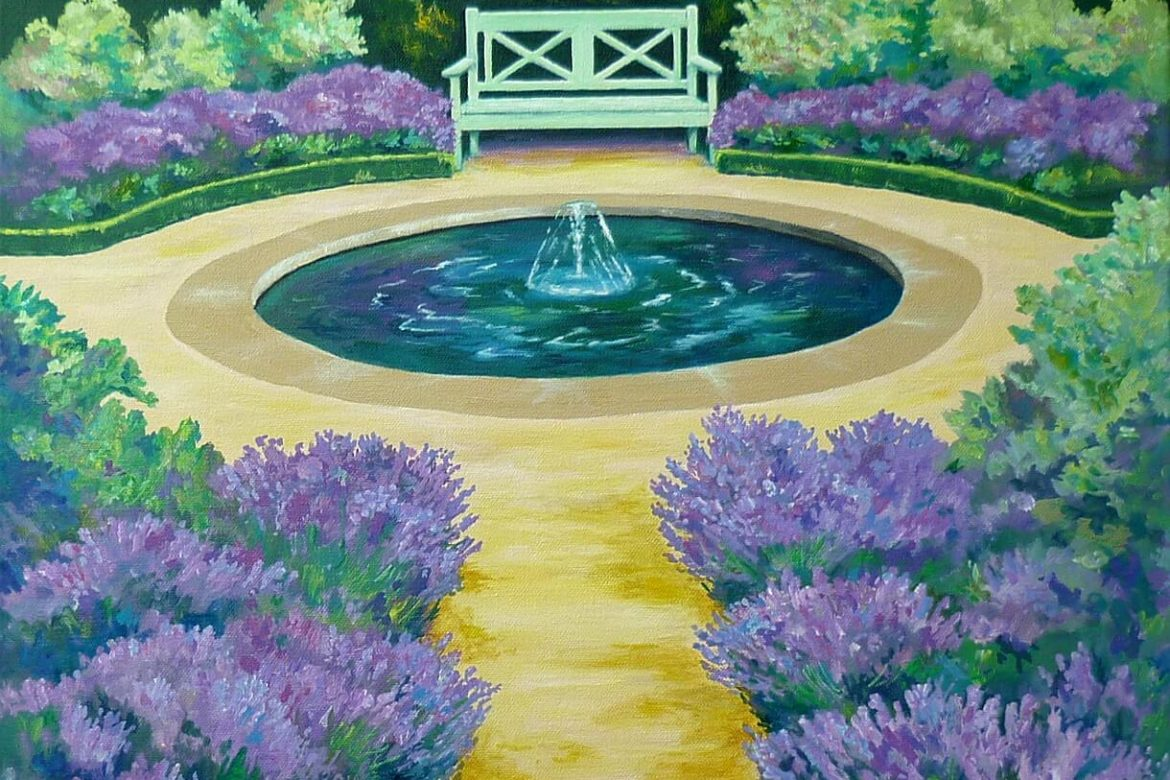 You can smell the lavender in the fourth Happy Garden painting